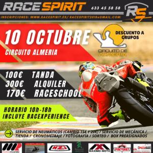 Tandas moteras en el Circuito de Almería, por Race Spirit
