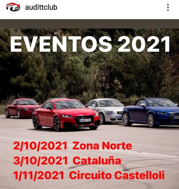 calendario KDD Audi TT Club
