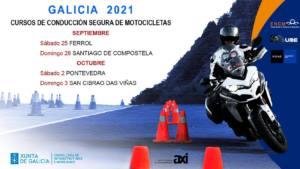 calendario cursos conduccion motos en Galicia