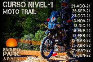 cursos conducción moto trail por Enduro Park Spain