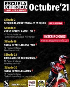 Cursos Escuela Dani Hernández en Lleida