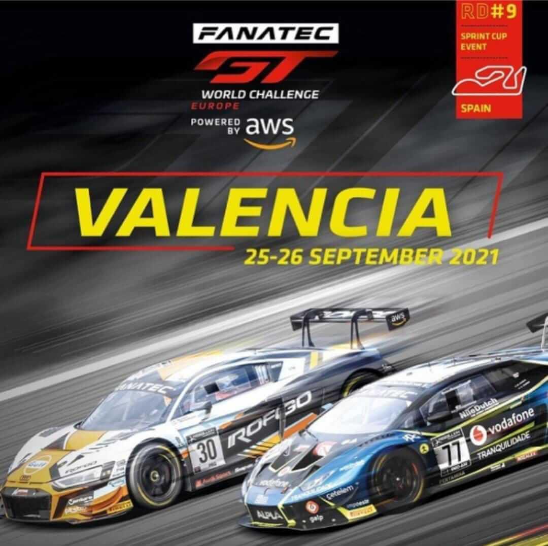 Carrera coches GT World Challenge en Valencia