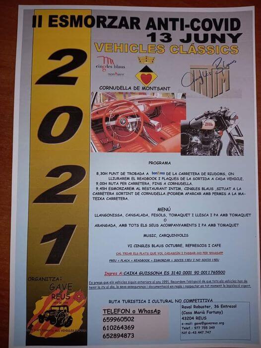 Esmorzar Vehicles Clássics en Cornudella de Montsant