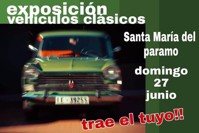 Concentración Vehículos Clásicos en Santa María del Páramo, León