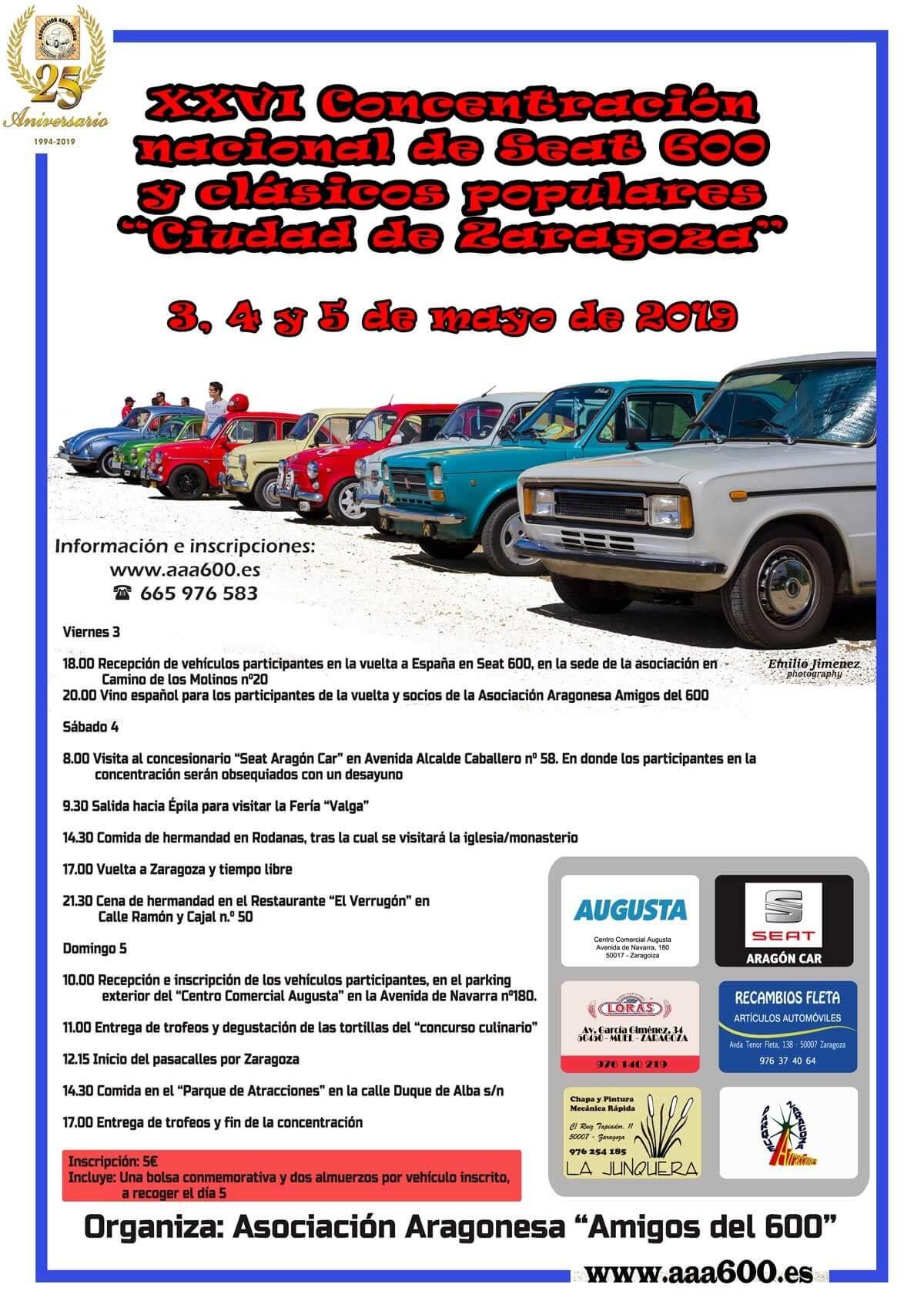concentracion coches clasicos zaragoza
