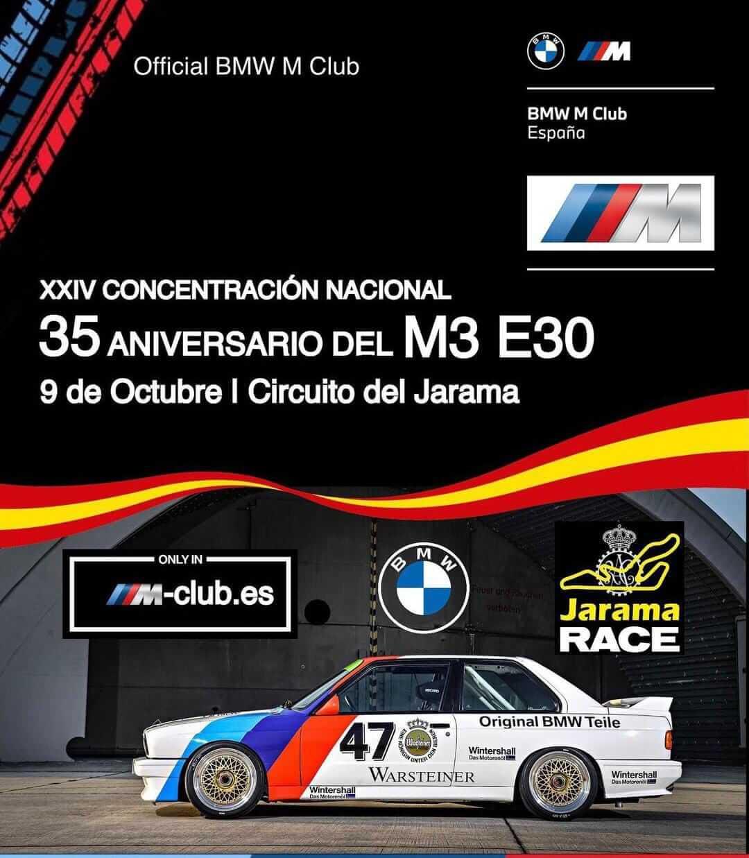 Concentración BMW M3 E30 en Madrid
