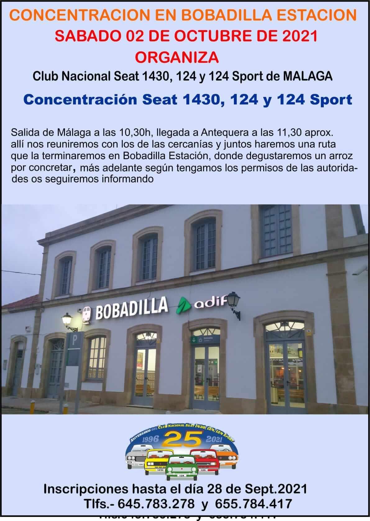 Concentración SEAT 1430 y 124 en Málaga