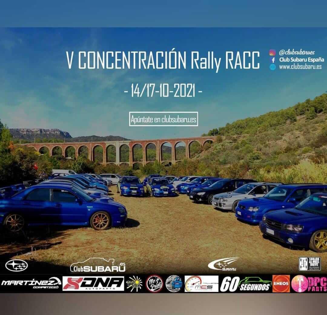 Concentración Subaru en Rally RACC