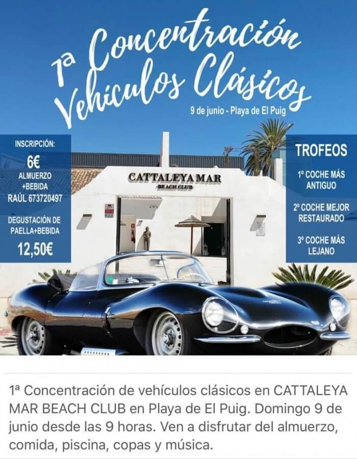 concentraciones coches clasicos Valencia