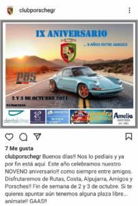 Concentración Club Porsche Granada