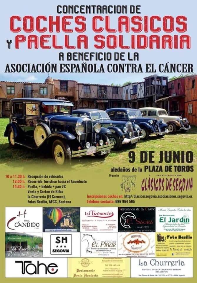 concentraciones coches clasicos Segovia