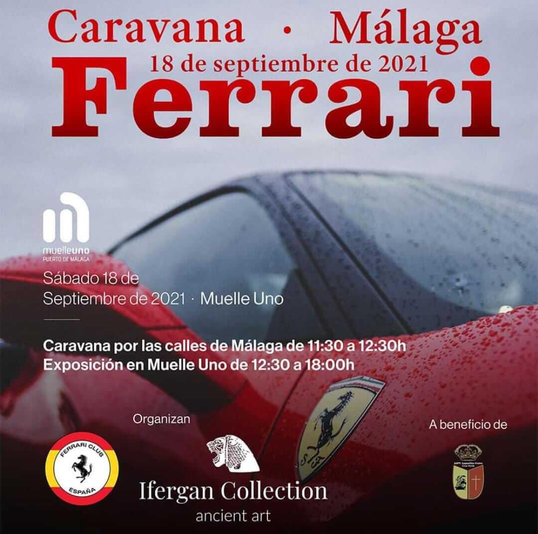 Caravana Ferrari en Málaga