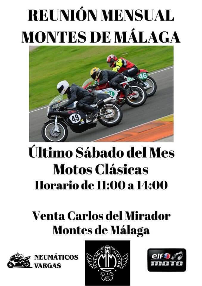 concentracion motos clasicas Malaga