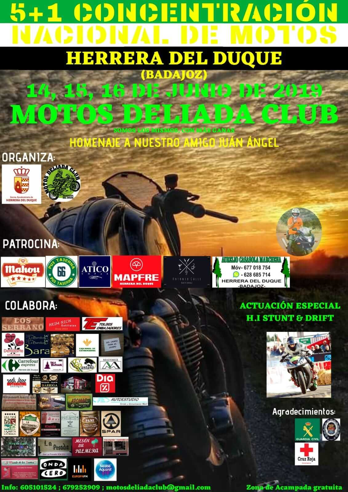 concentraciones moteras Badajoz