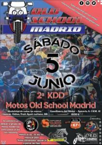 concentración motos clásicas en Madrid