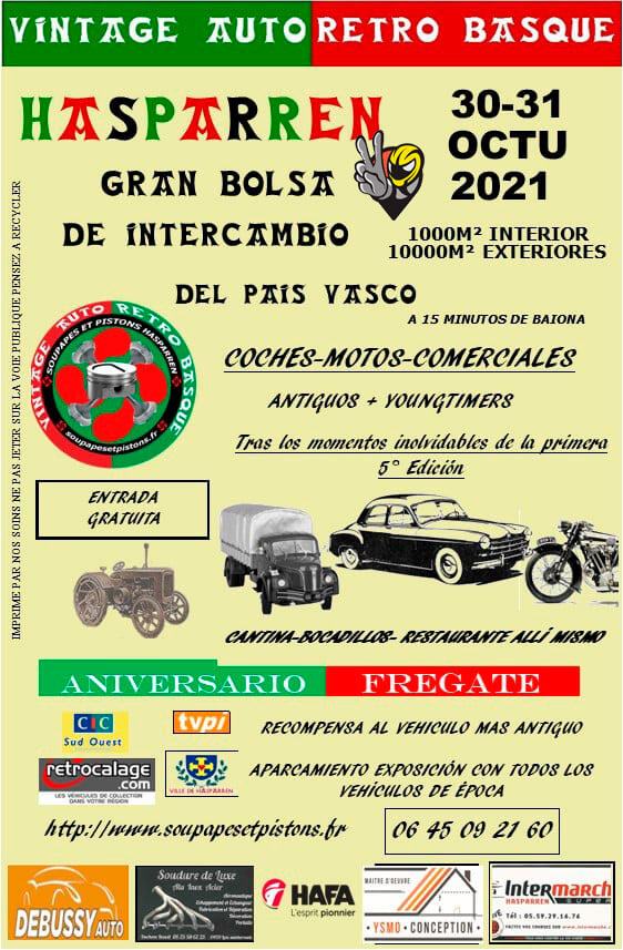Feria Vintage Auto Retro Basque en Hasparren, Francia