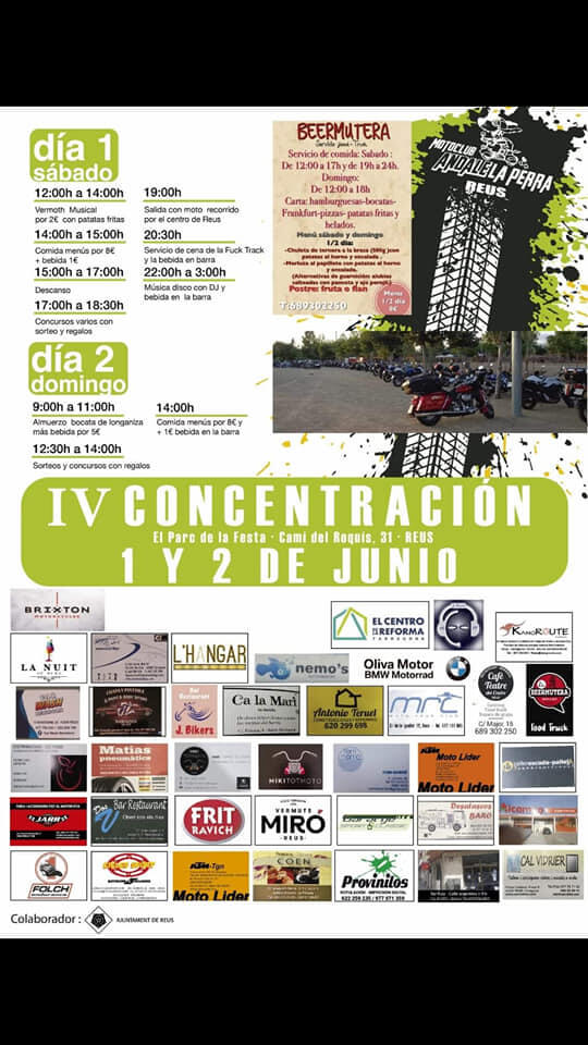 concentraciones moteras Tarragona