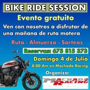 Ruta Motera Bike Ride Session en Machado Racing, Valencia.