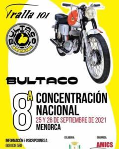 Concentración motos clásicas Bultaco en Menorca