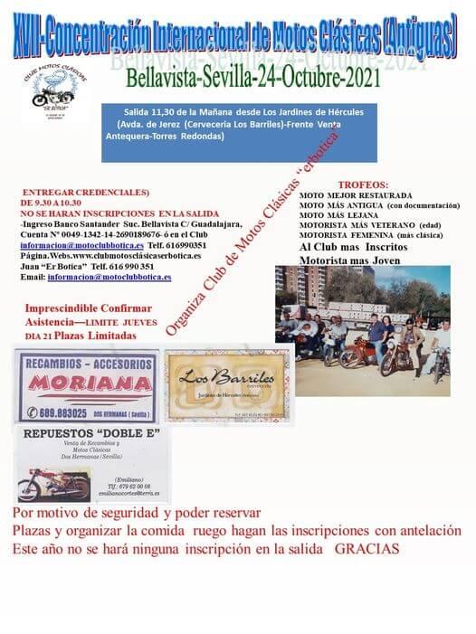 Concentración Motos Clásicas en Sevilla