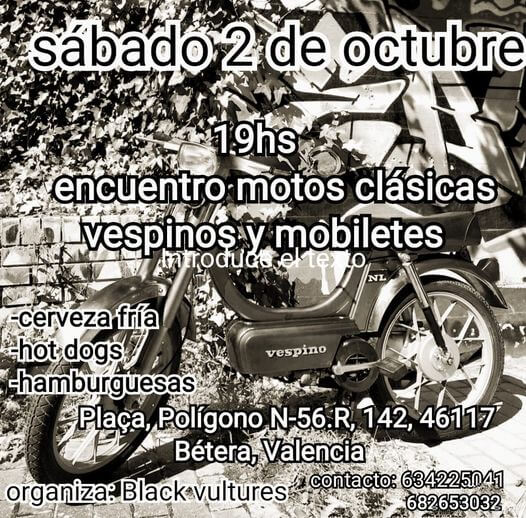 Concentración Motos Clásicas en Valencia