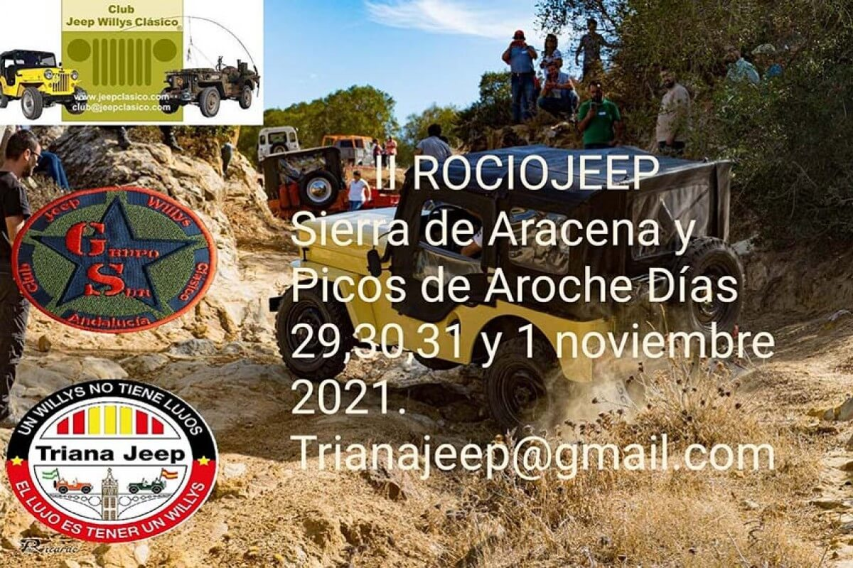 Concentración Jeep Willys clásicos en Extremadura
