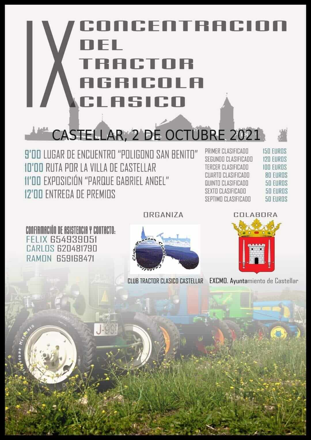 Concentración Tractores Clásicos en Castellar, Jaén