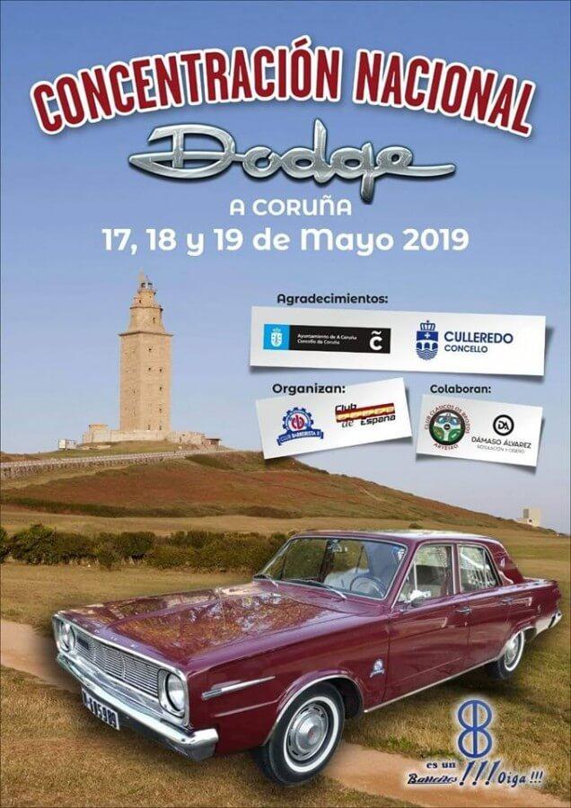 concentracion coches clasicos galicia dodge