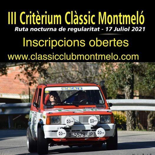 Ruta nocturna de regularidad Critèrium Clàssic Montmeló