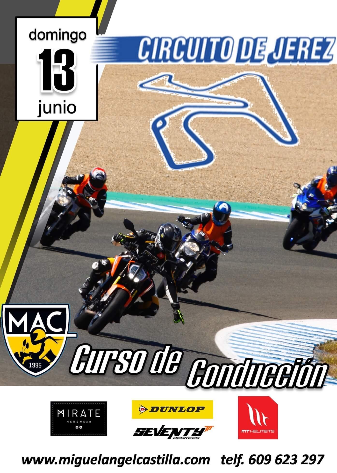 curso conducción moto en circuito de Jerez