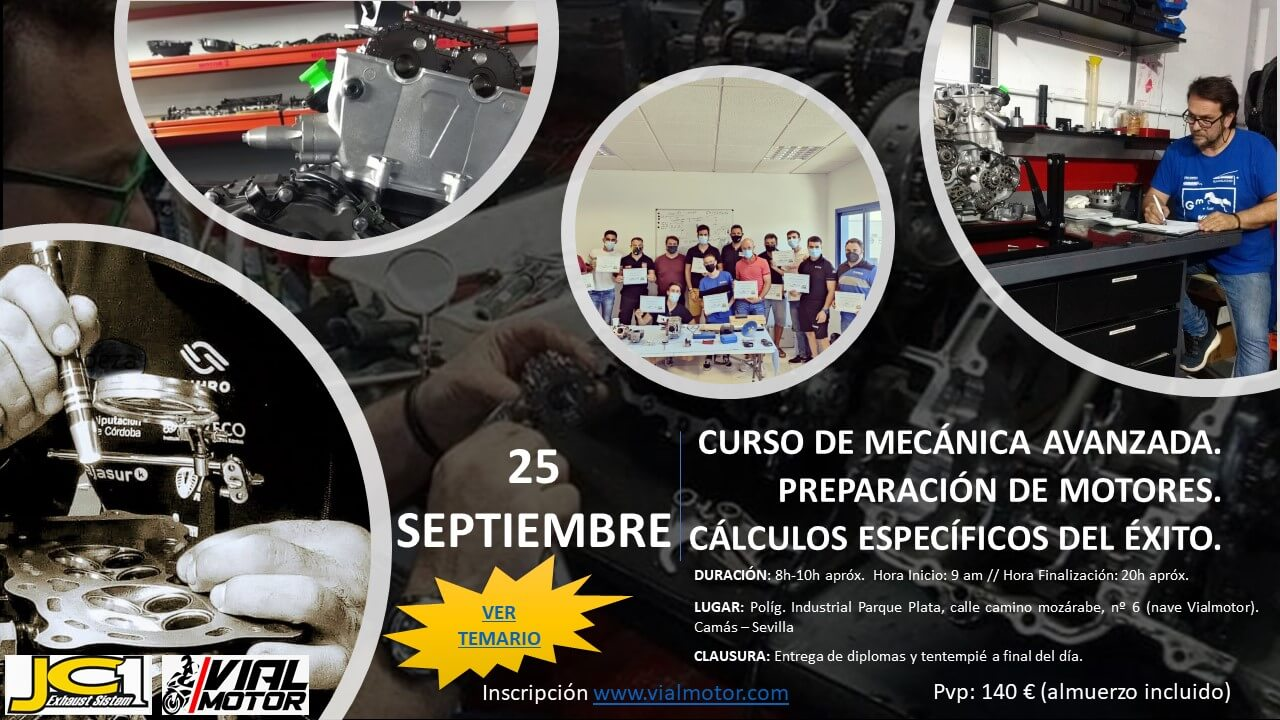 Curso Mecánica avanzada de motos en Sevilla