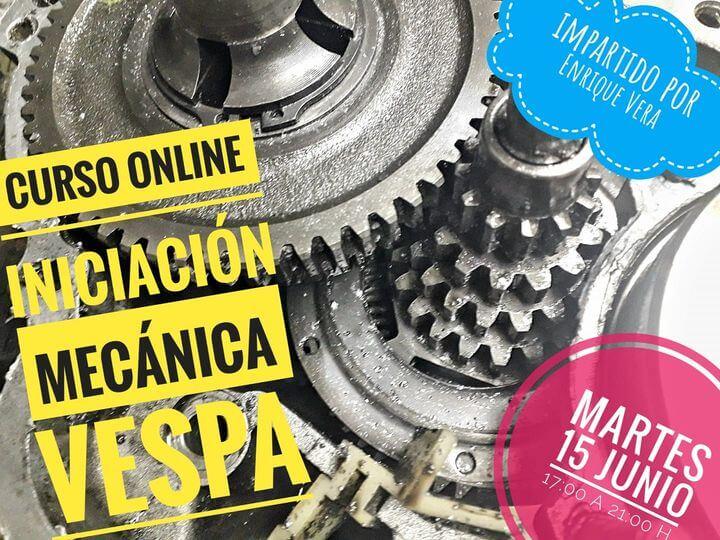 Curso online Mecánica Vespa impartido por Enrique Vera