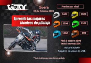 Curso de conducción motos en Zuera