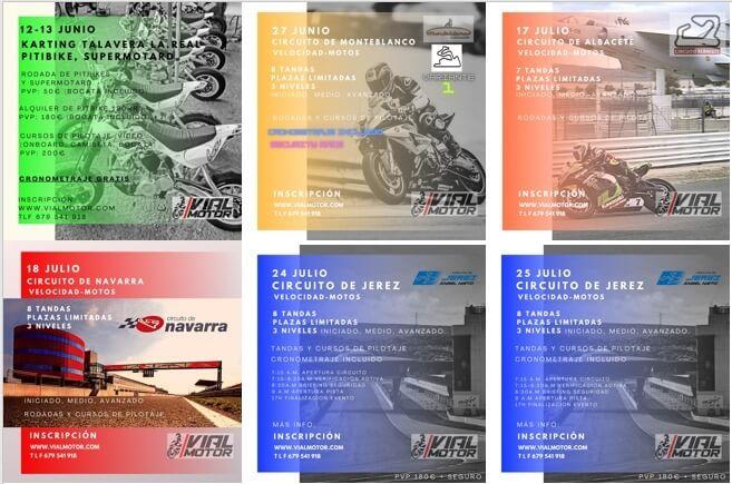 tandas de motos por VialMotor