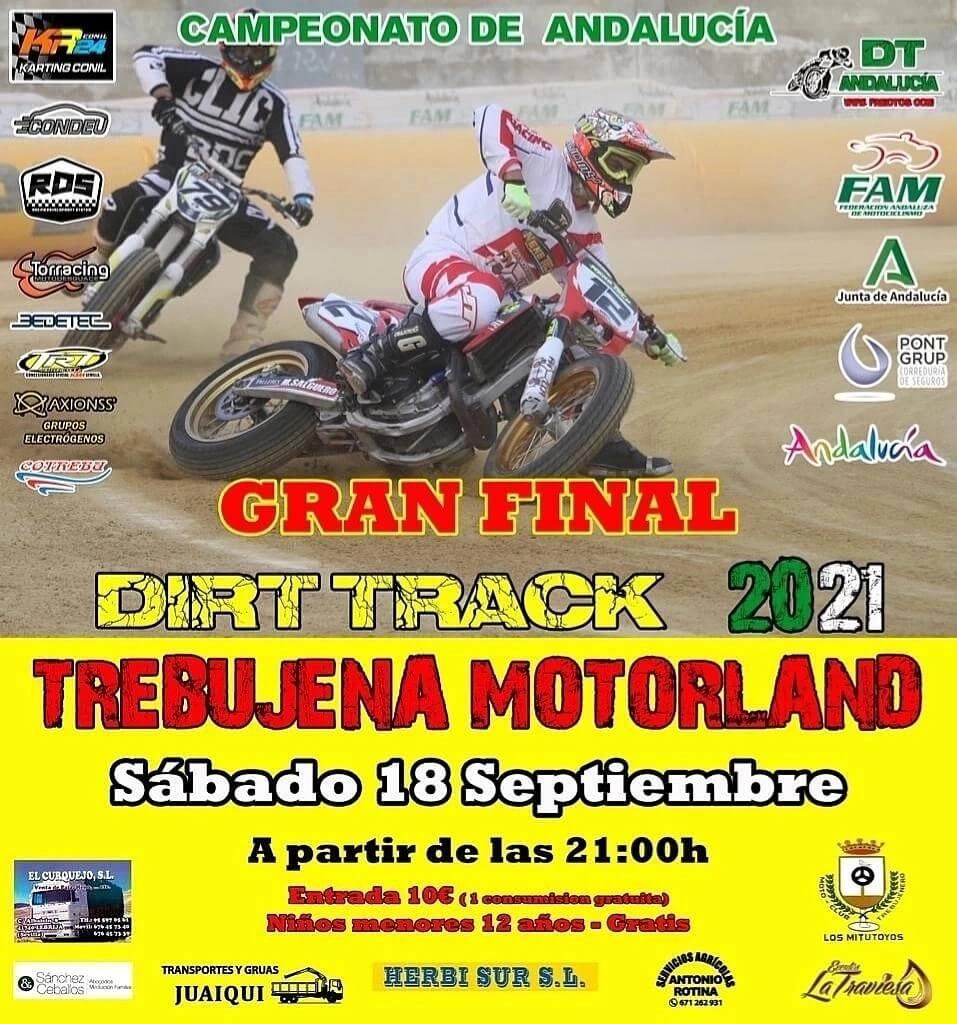 Carrera motos Dirt Track en Trebujena Motorland, Cádiz