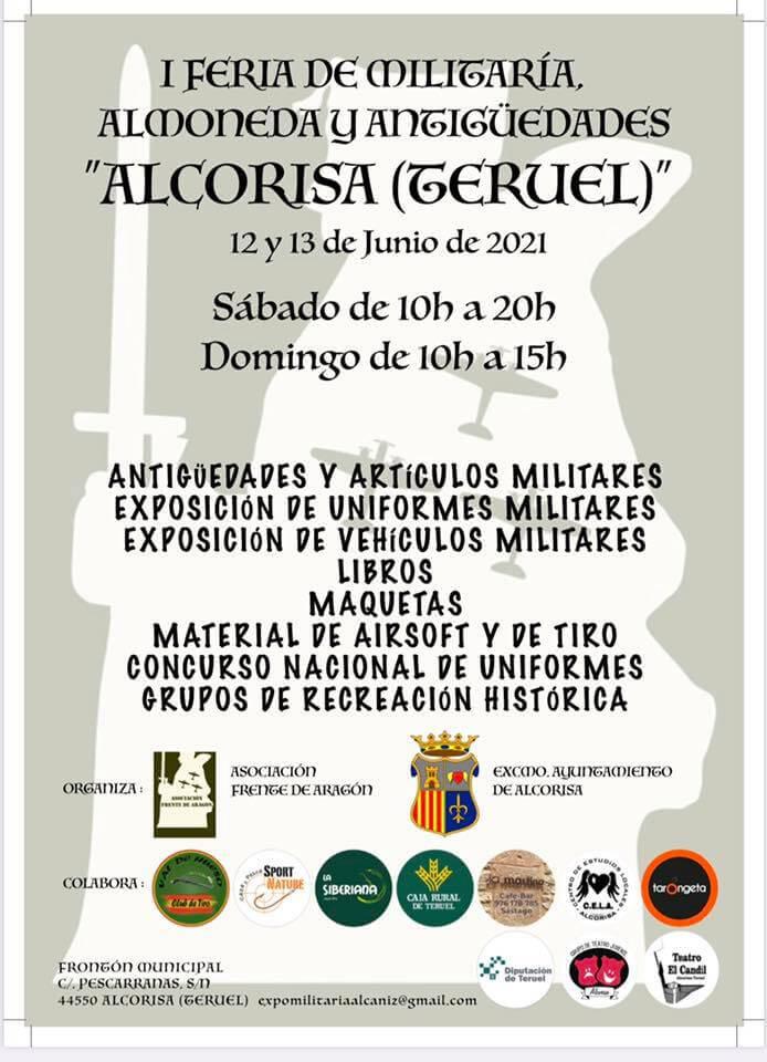 Feria Militaría Almoneda y Antigüedades en Alcorisa, Teruel