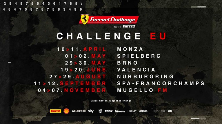 Ferrari Challenge en Valencia, circuito Ricardo Tormo