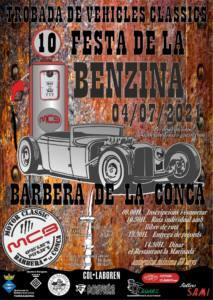 Concentración Vehículos Clásicos Festa de la Benzina en Barbera de la Conca, Tarragona.