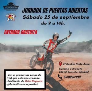 Exhibición Trial de Oriol Noguera en El Bunker Moto Área, Brunete