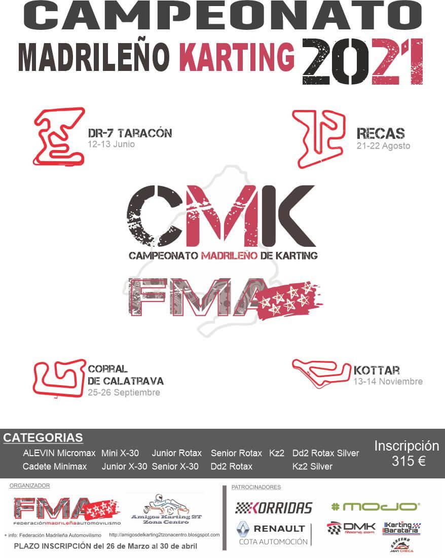 calendario campeonato karting madrid