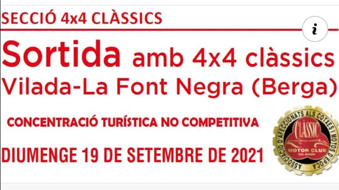 Sortida amb 4x4 Clàssics en Vilada