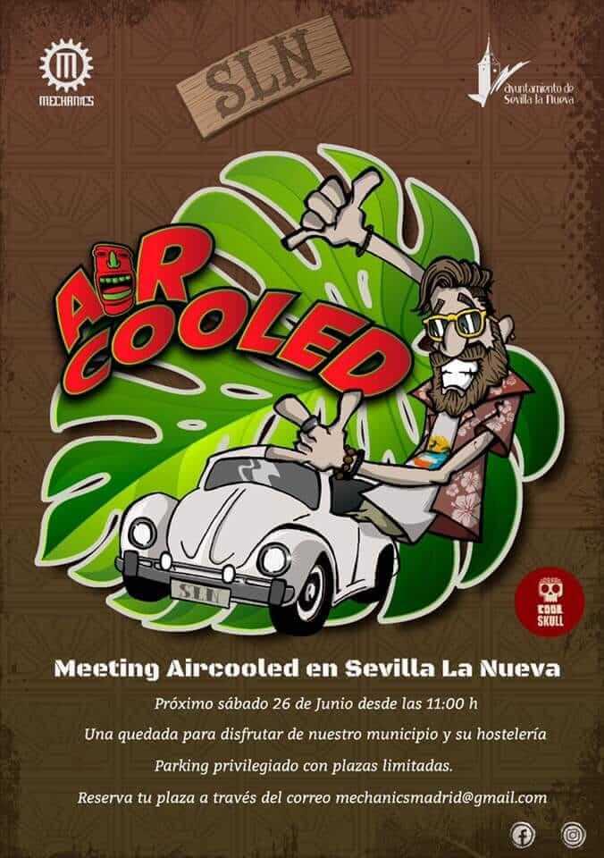 Concentración clásicos Volkswagen Meeting Aircooled en Sevilla la Nueva, Madrid.