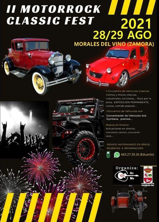 Motorrock Classic Fest en Morales del Vino, Zamora.