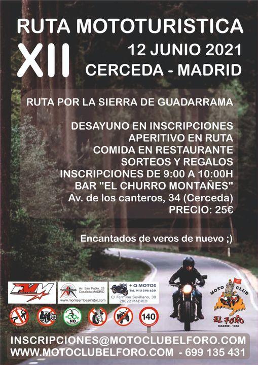 Ruta Mototurista Cerceda Madrid