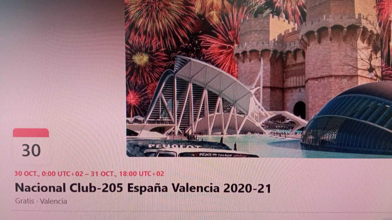 concentracion peugeot 205 en Valencia