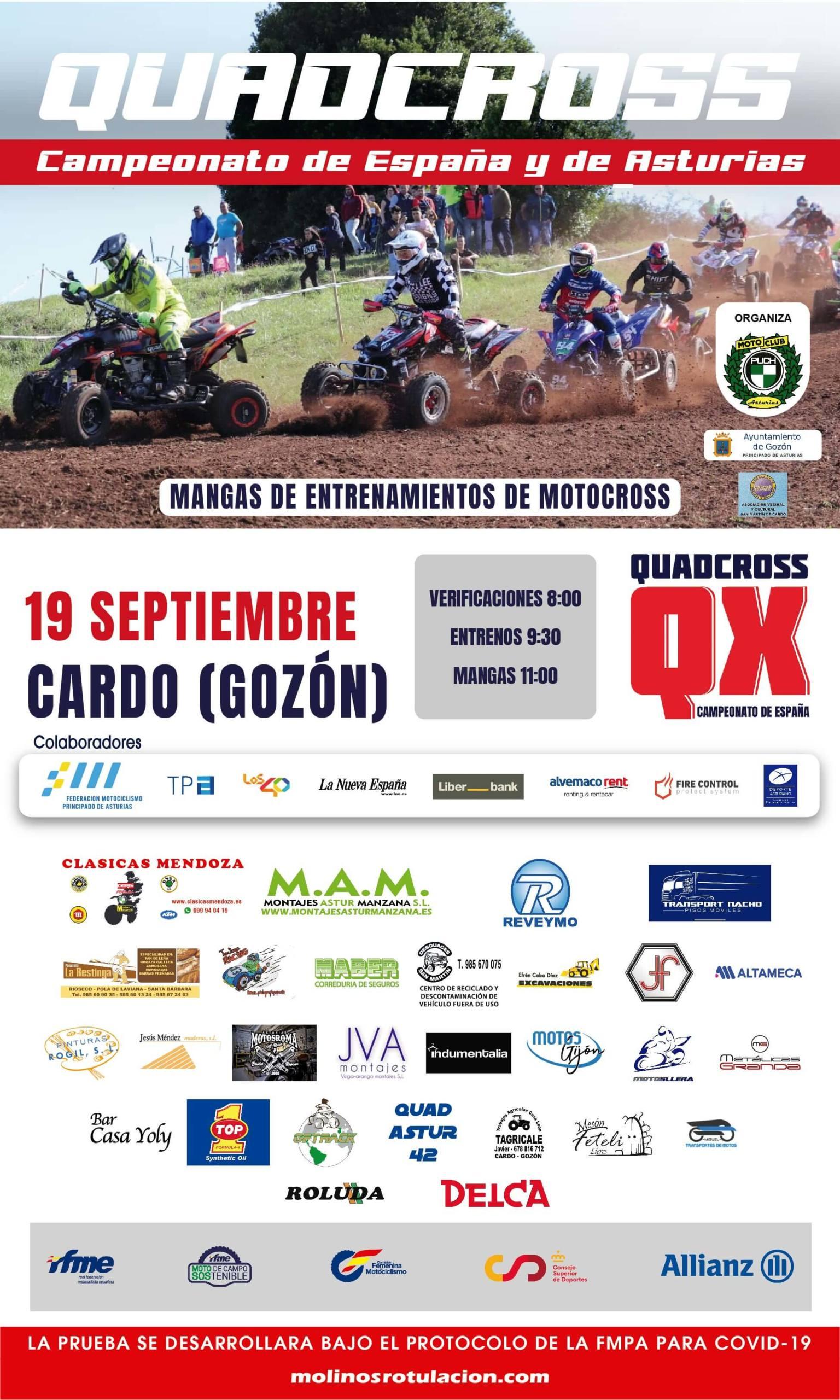 Quadcross en Cardo, Gozón, Asturias