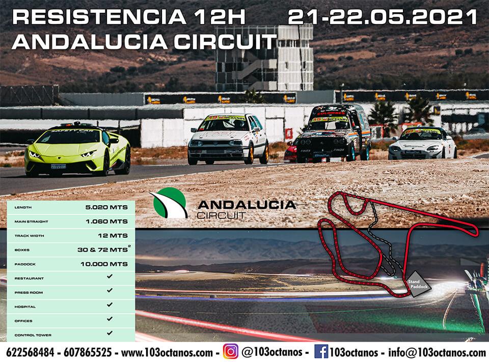 carrera resistencia 12h circuito andalucía