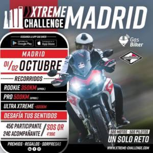 Ruta motera Xtreme Challenge Madrid