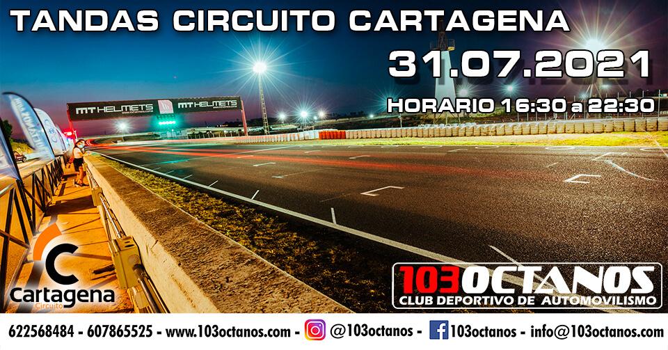 Tandas Coches en el circuito de Cartagena, organizadas por 103 Octanos.