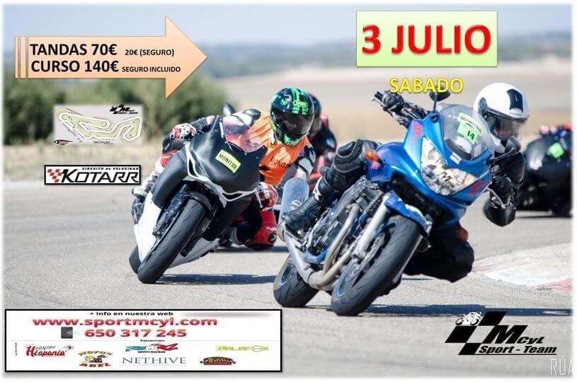 Tandas de motos en el circuito de Kotarr, organizadas por Sportmcyl.
